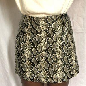Snake Print Mini Skirt Size 6